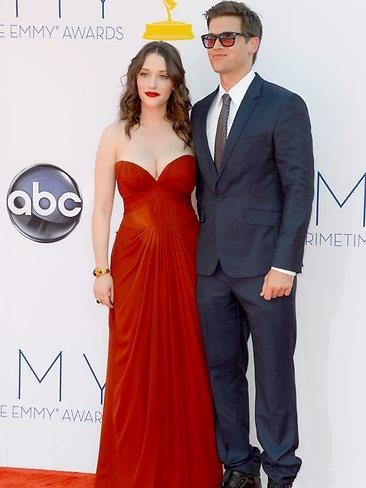 Kat Dennings and Nick Zano   2012 Emmy Awards   The Australian