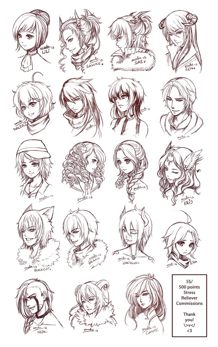 anime hairstyles male