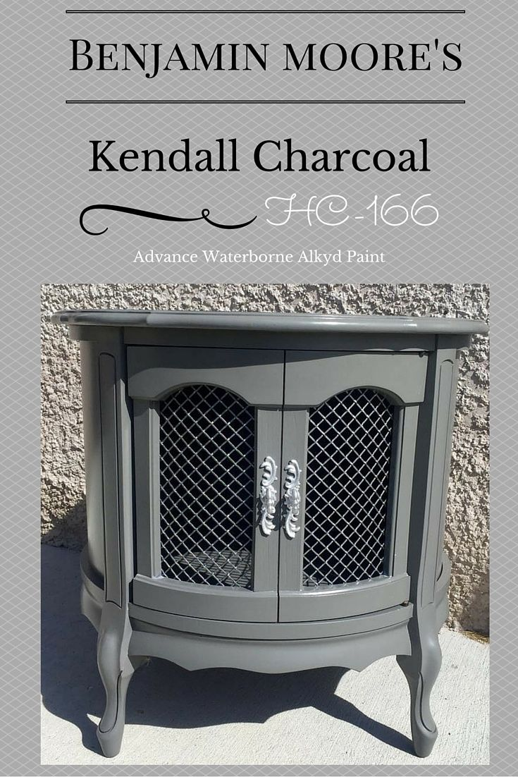 Benjamin moore 39 s kendall charcoal advance paint french provincial furniture painted furniture for Kendall charcoal exterior paint