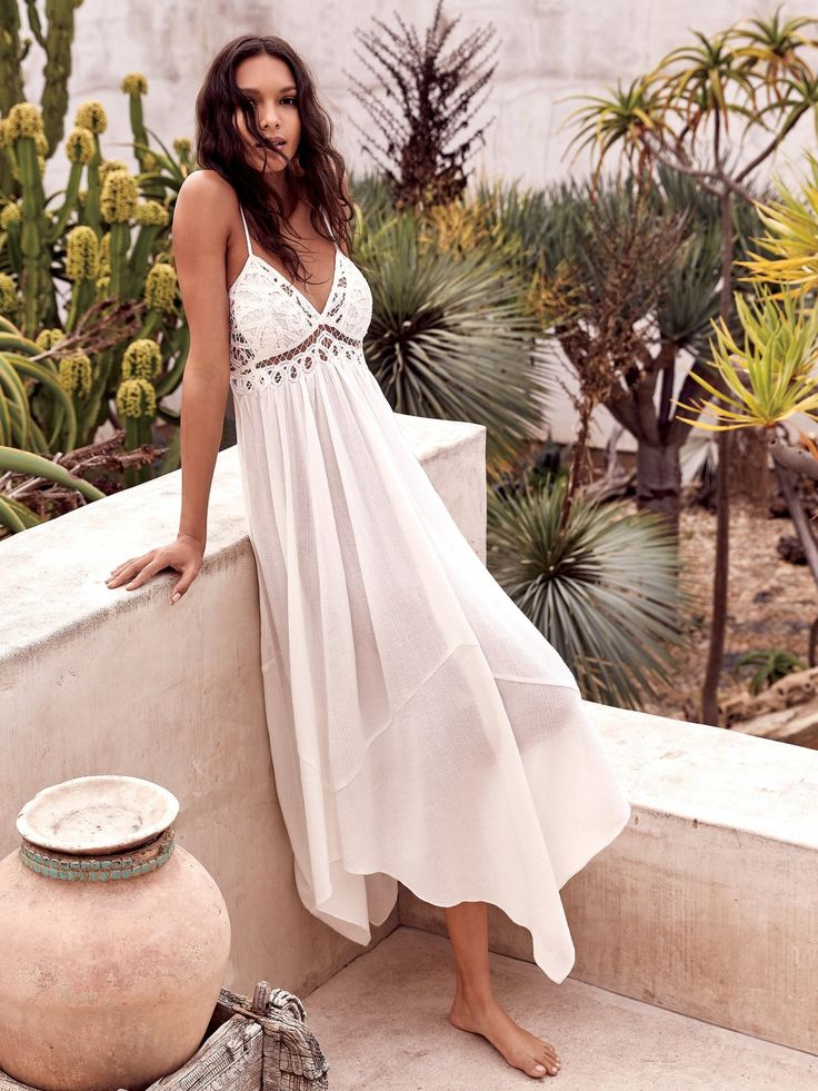 Endless Summer Ivory Elaina Maxi Dress at Free People Clothing Boutique