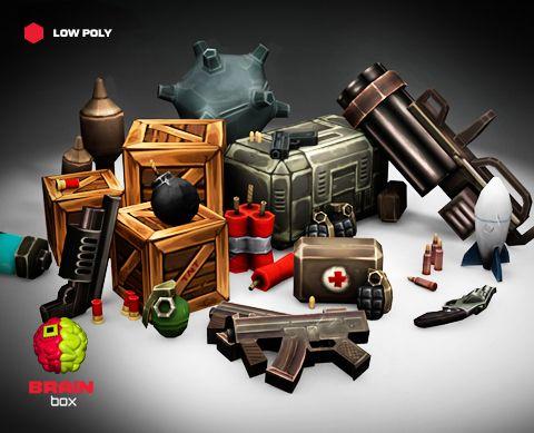 Guns and Explosives Pack https://www.assetstore.unity3d.com/en/#!/content/22002