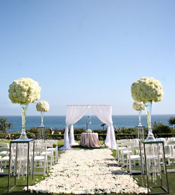 Beach Wedding Ceremony Decorations : Images about romantic wedding by the sea on