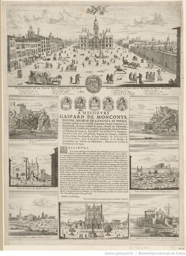 Perspective de la place des Terreaux où est représenté la face de la maison de ville de Lyon : [estampe]