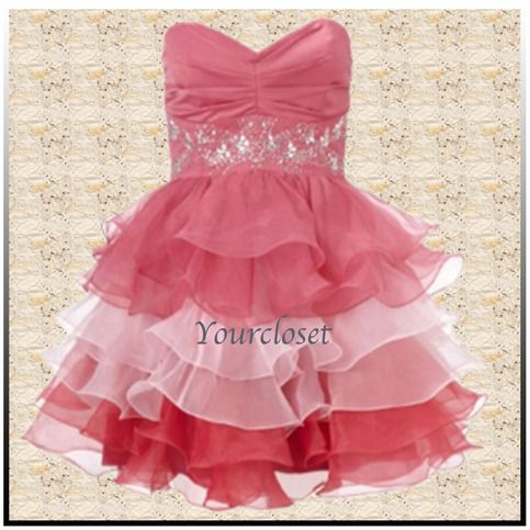 Cute elegant stapless prom dress / ball gown from Your Closet #coniefox #2016prom