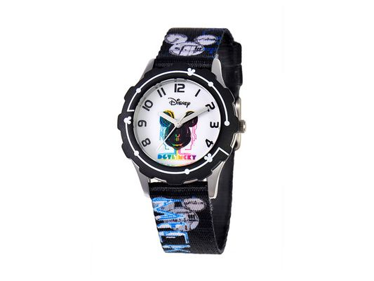 Disney Tween Mickey Mouse Stainless Steel, Printed Bezel, Printed Stra