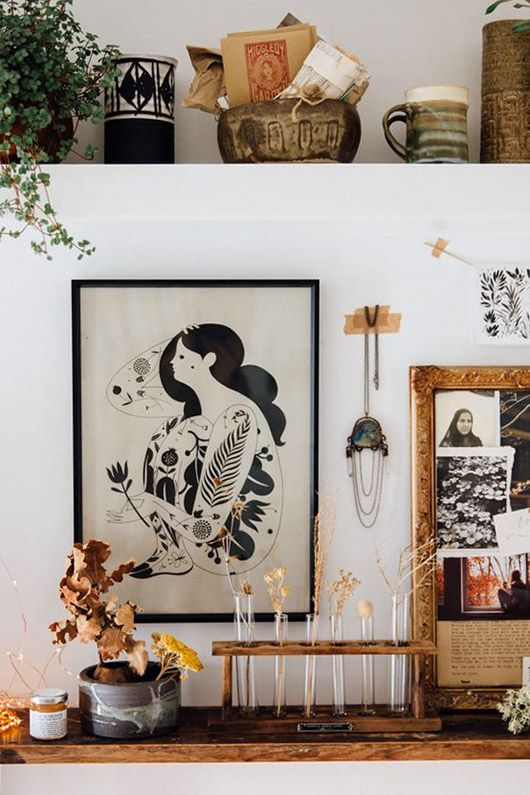 cozy modern art and decor. / sfgirlbybay