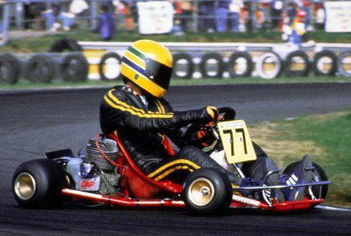 Ayrton in his karting days