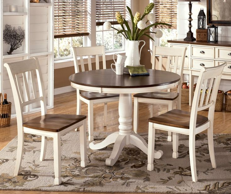 Whitesburg Round Dining Room Table U0026 4 Side Chairs By Signature Design By  Ashley. Get Your Whitesburg Round Dining Room Table U0026 4 Side Chairs At  Furniture ...