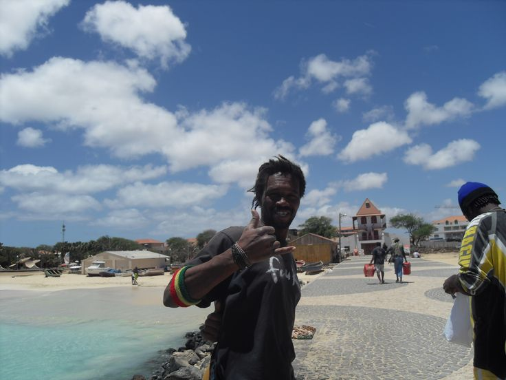 A happy day on the pier in Santa Maria, Sal, Cape Verde #NoStress #Team238 #Teamcv