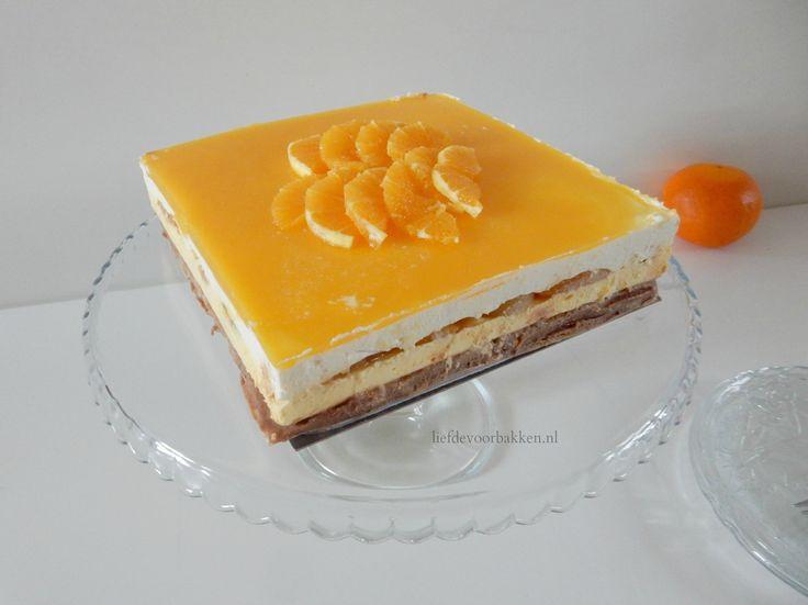 Een heerlijk fris taartje met sinaasappel, abrikozen en mascarpone! Ook nog eens no-bake!  #cheesecake #nobake #nobakecheesecake