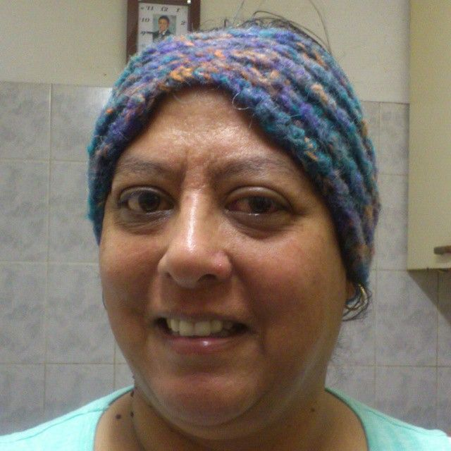 Rugaya loving her warm and comfy Everly Head Wrap #NiftyNadi #crochet #mohair