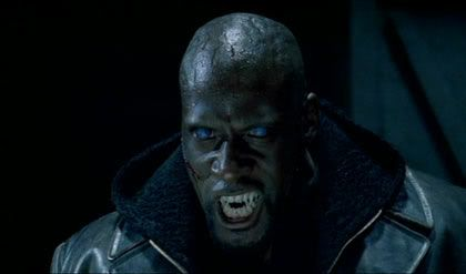 The first movie is about a werewolf hybrid, Michael, being hunted by Lucien (leader of the Lycan) who believes the hybrid's blood will save their species.