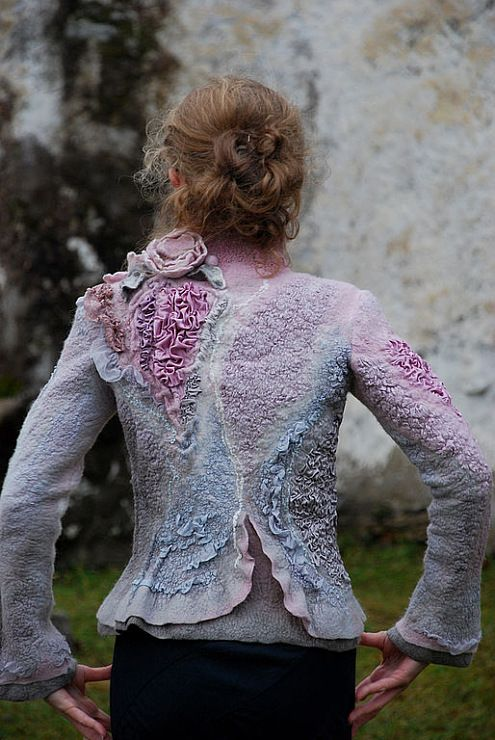 Gallery.ru / Фото #96 - СВЕТЛАНА ВРОНСКАЯ - renew. Beautiful jacket.  A handmade Nuno Felted jacket.  B.