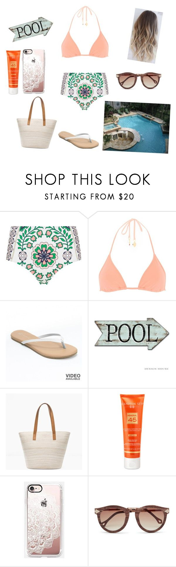 """Pool #3"" by peterkonijn on Polyvore featuring mode, Tory Burch, STELLA McCARTNEY, LC Lauren Conrad, Chico's, Hampton Sun en Casetify"