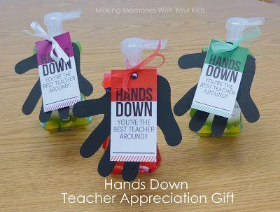 Hands Down Best Teacher {Teacher Appreciation Gift}