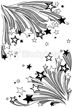 shooting star doodles