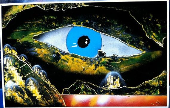 spray paint eye