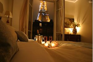 I had this beautiful view of the Eiffel Tower in Paris from bed once. One of my favorite memories<3