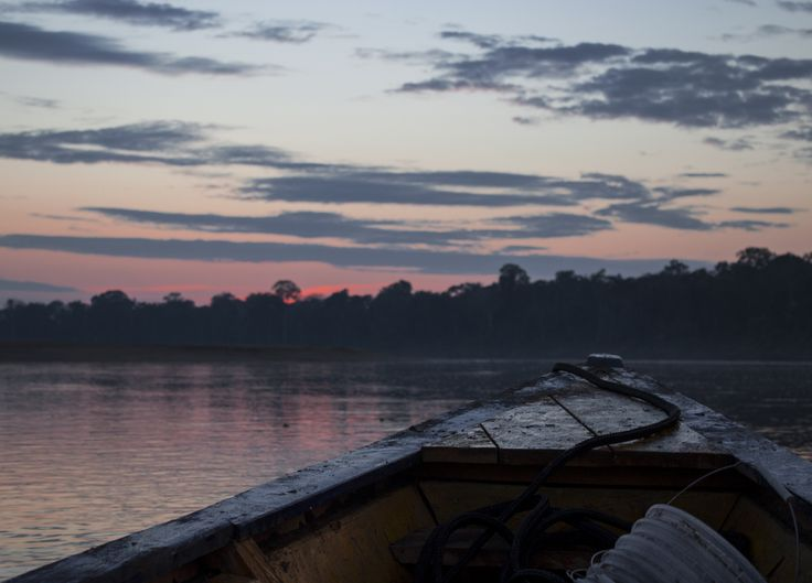 Sunrise in Peru after spending a long night finding turtle eggs