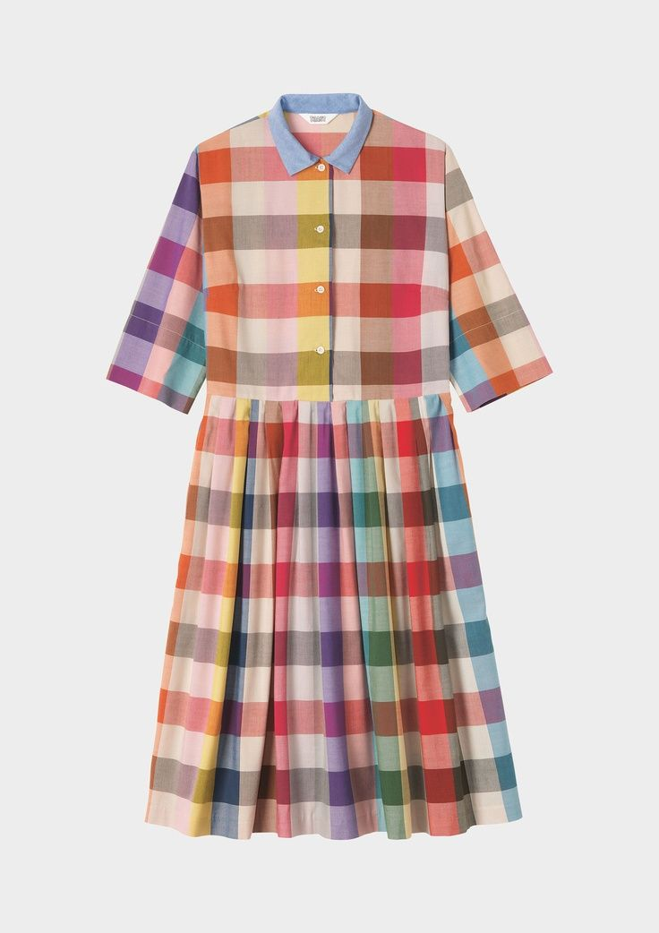 nnokka:  Tippi pleated shirt dress.