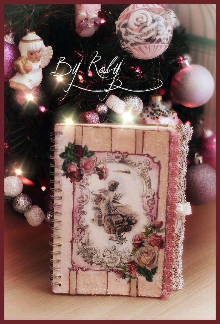 #decoupage #christmas #notebook