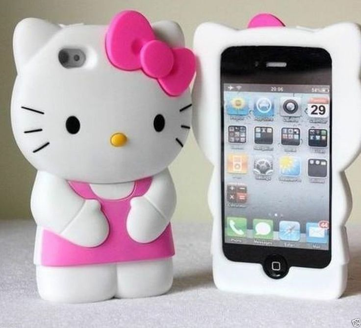 3d soft silicone hello kitty iphone 5 5c 5s case *pink