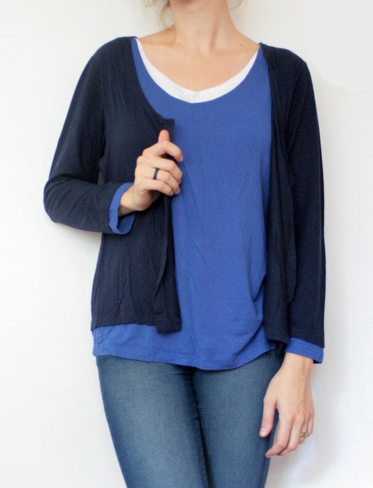 Bluza subtire care pare sa fie formata din 3 straturi