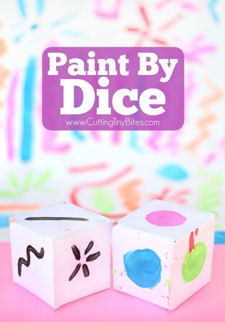 Paint By Dice- process art painting activity for toddlers, preschoolers…