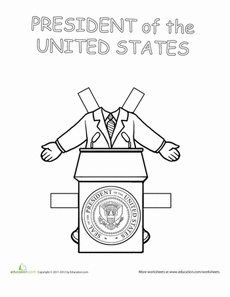 Career Paper Dolls: President! Worksheet
