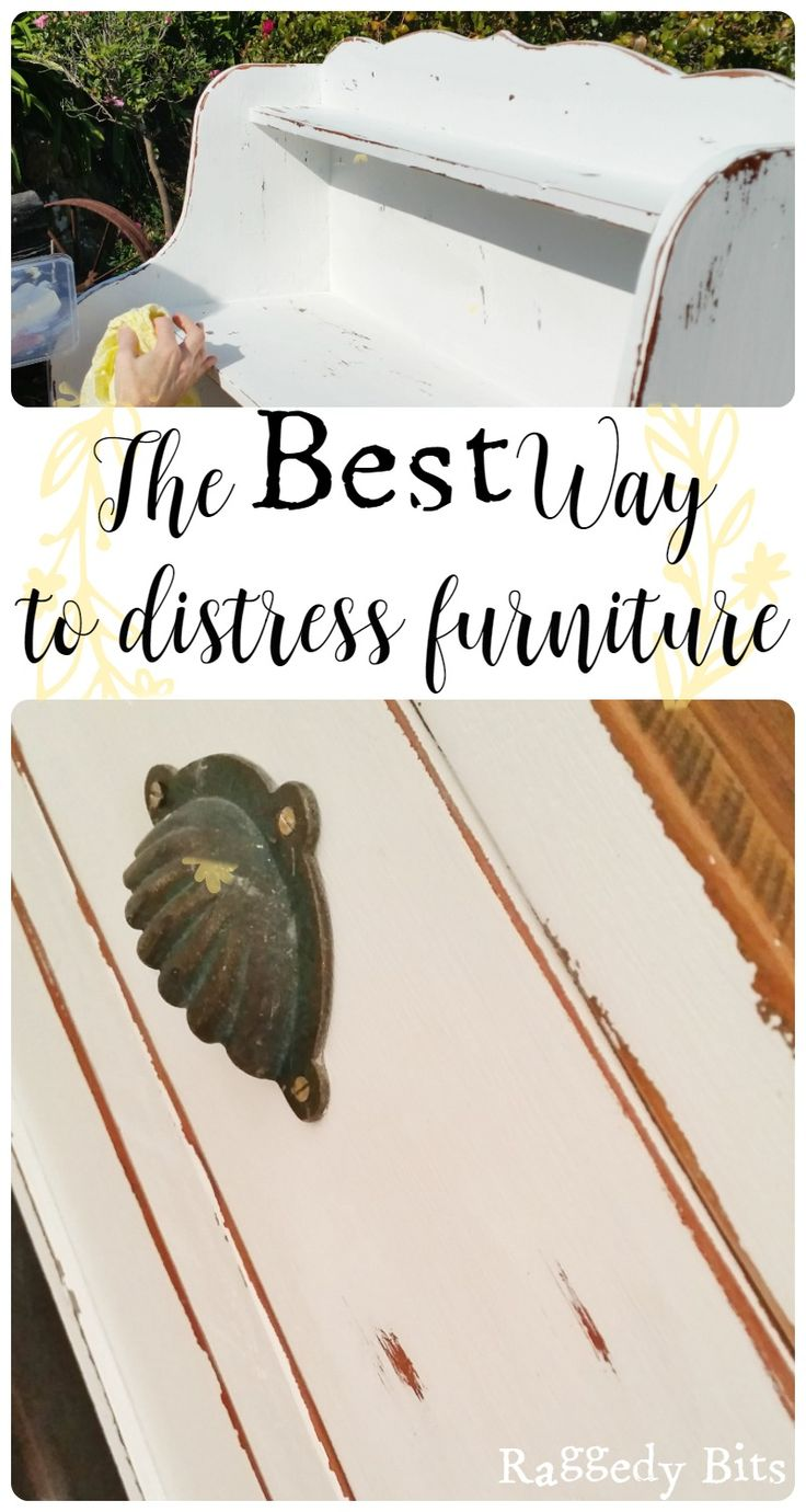 Learning how to paint furniture and scared about distressing? Sharing the best way to distress furniture | www.raggedy-bits.com