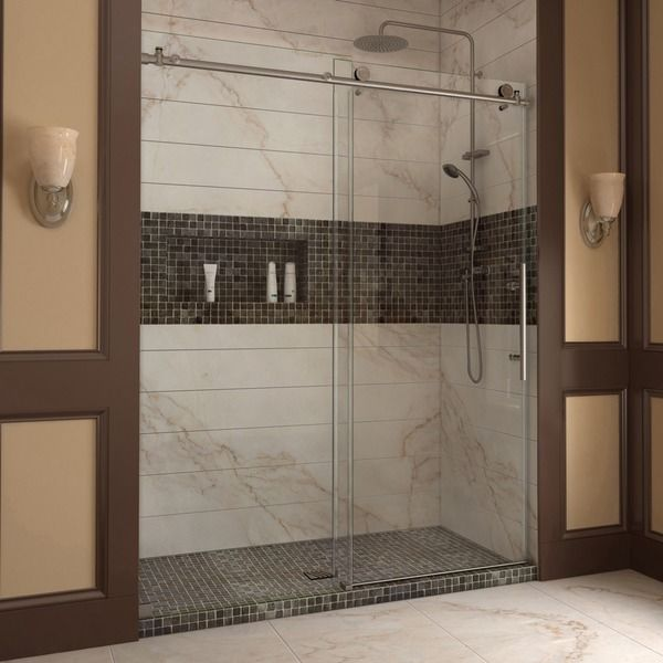 Door.  Maybe this is all I need? ** DreamLine Enigma-X 56-60x76-inch Fully Frameless Sliding Shower Door
