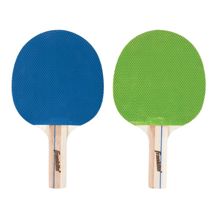 Franklin Sports 2-Player Optic Table Tennis Paddle Set In Clam - Blue/Green, Aquarium Blue/Green