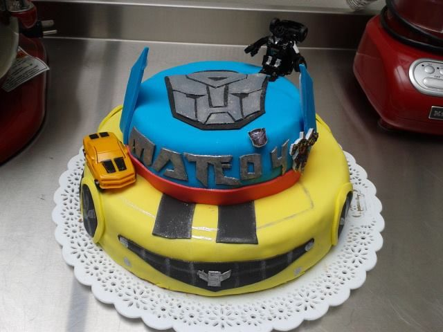 Torta tematica de Transformers para Mateo.