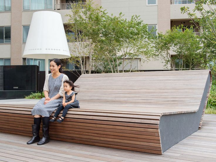 THE JINGUMAE RESIDENCE|WORKS|earthscape inc.,|wood bench couch