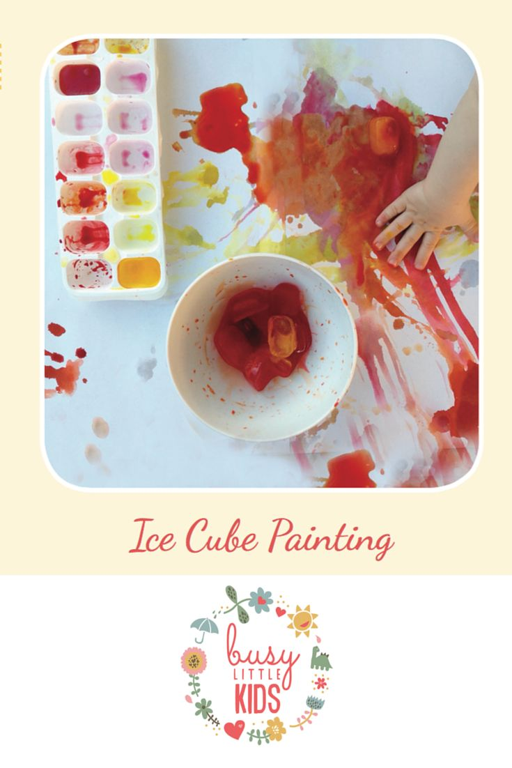 Fun, simple, easy sunny day kids activity - Ice Cube Painting