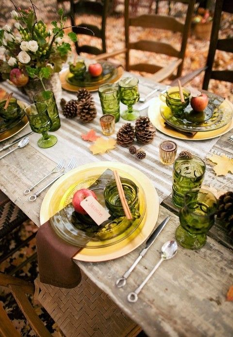 Perfect Images About Fall Wedding Tablescapes With For