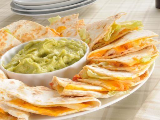 Recette Quesadillas de fromage et de poulet, notre recette Quesadillas de fromage et de poulet - aufeminin.com