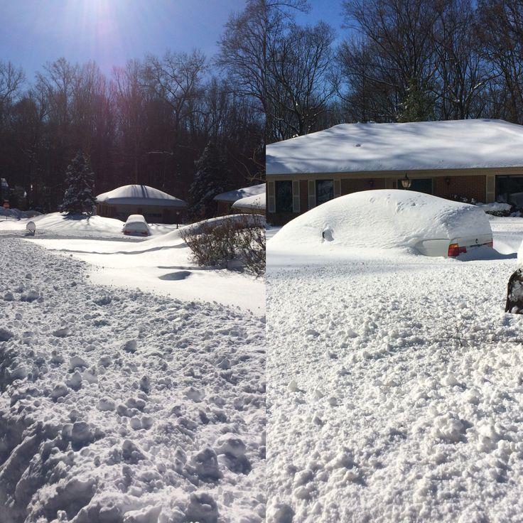 Snow Storm Jonas - Oakton Virginia