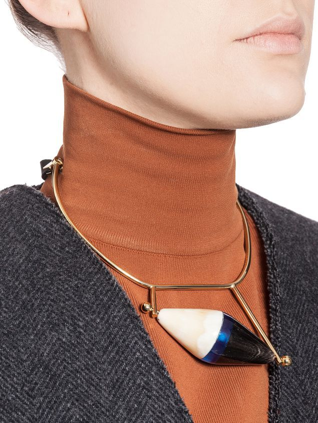 MARNI | RUNWAY NECKLACE IN HORN