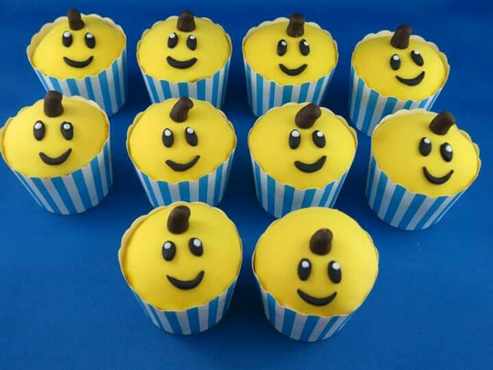 Bananas in pyjamas cupcakes