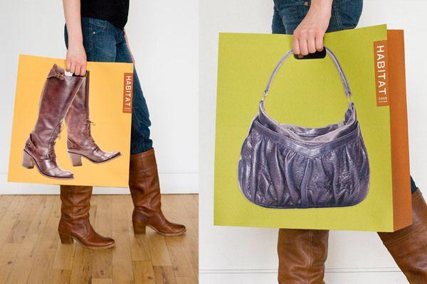 Habitat Shoe Boutique Branding by será será , via Behance shopping bag fun PD