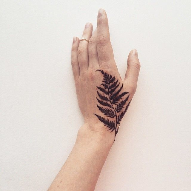 Fern leaf tattoo inspo