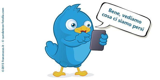 Cosa ti sei perso mentre non eri su #twitter?  È questo il senso della nuova funzione lanciata da questo #socialnetwork #socialmediamarketing