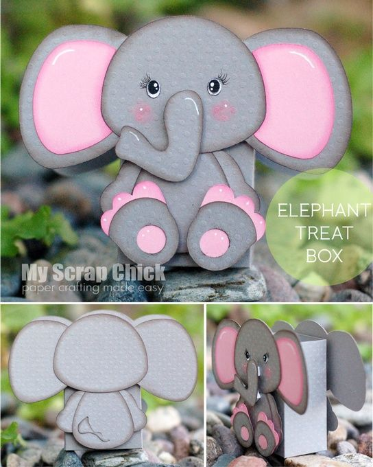 Caja Treat elefante con la parte trasera: pincha para ampliar