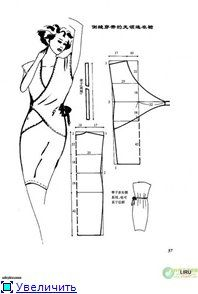 Russian site with illustrations on how to alter a basic dress sloper to create various dress designs