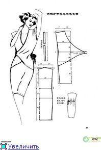 Padrões básicos de vestidos.