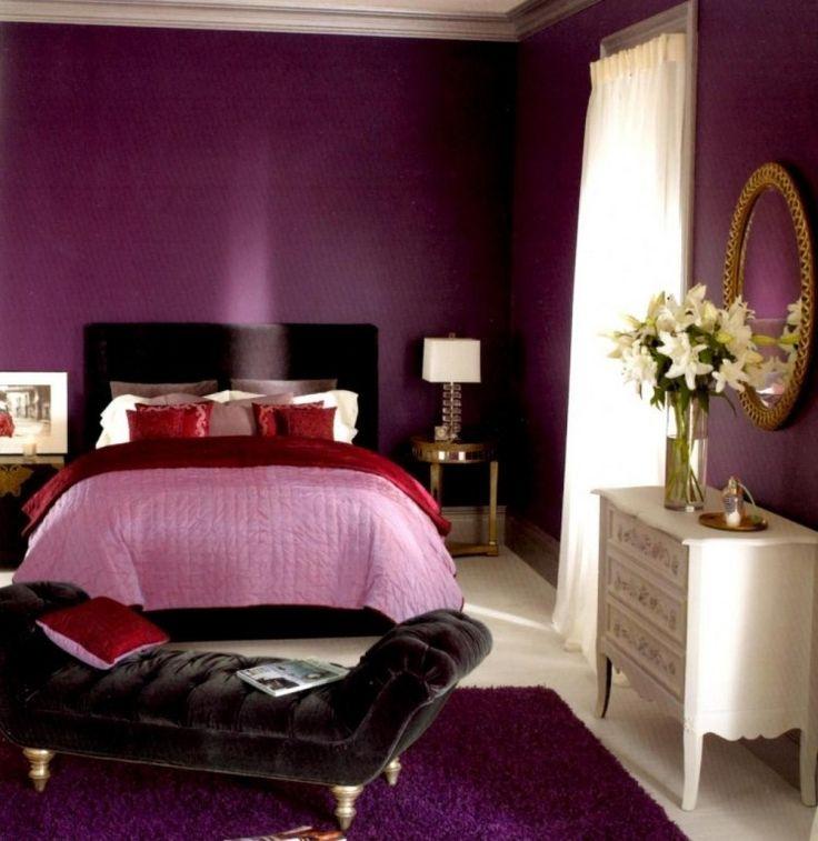Die besten 25+ Dunkel rotes schlafzimmer Ideen auf Pinterest - bordeaux schlafzimmer