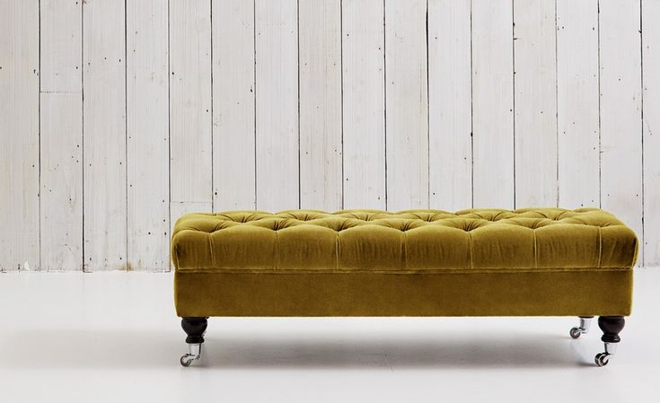 Buttoned Chesterfield Footstool, UK