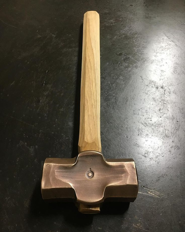 Pat Quinn (@handforgedinvt Forged Silicon bronze 3lb hammer!  We're going to put this…'