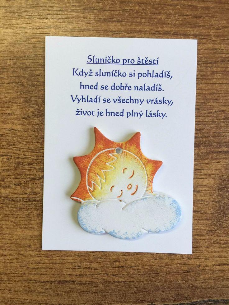 Keramické přáníčko - Sluníčko pro štěstí :: Keramika Andreas
